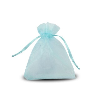 Sachets organza Turquoise 10x8cm x25