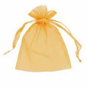 Sachet organza Orange 12x9cm x1